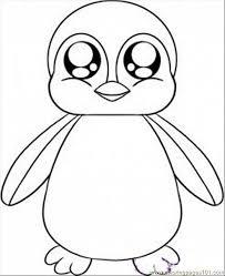 Pinguino Con Gli Occhi Dolci Disegni Da Colorare Gratis Disegni Da