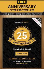 25 Elegant Anniversary Flyer Templates Psd Ai Indesign