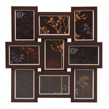 Wilko Photo Frame Multi Aperture Dark Wood Effect Large   Dark Wood Frames      Photo