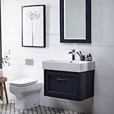 roper rhodes hampton 700mm slate grey wall mounted vanity unit
