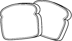 slice of bread outline. Plain Slice Throughout Slice Of Bread Outline F