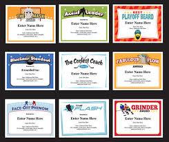 softball award certificate funny softball awards certificates hockey certificate templates
