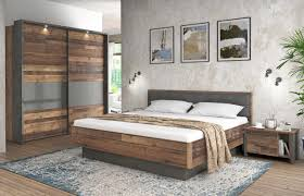 Schlafzimmer Set Clif Binou 220 Optik Old Wood Vintage Von Forte