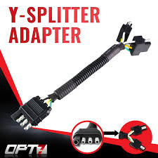 opt7 y splitter 4 tow pin connector adapter harness wiring for truck tailgate to attach