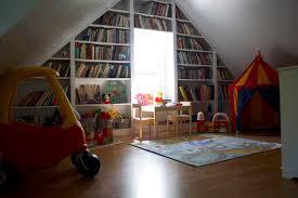 Attractive Home Attic Playroom Interior Design Feat Harmonious ...