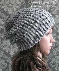 Knitting Patterns For Beginners Custom Knitting PATTERN Easy Beginner Knit Slouchy Hat Pattern Knitting