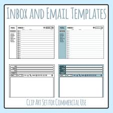 Email User Interface Templates Layouts Clip Art Set For Commercial Use