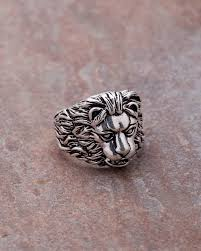 designer mens rings oxidized silver lion ring for men from dare by voylla voylla