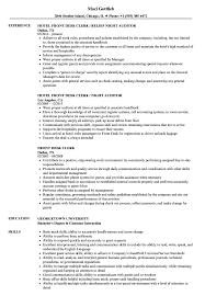 Front Desk Clerk Resume Samples Velvet Jobs Hotel Office S Sevte