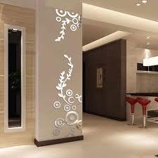 Mirror Design Wallpaper Creative Circle Ring Acrylic Crystal Mirror Wall Stickers