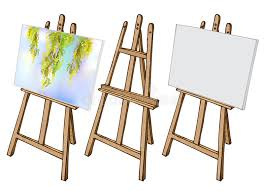 wooden easel and canvas stock vector ilration of billboard 73168403