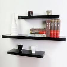 100x20x4cm floating shelves black or white matt