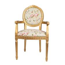 Shabby Chic Bedroom Chairs Uk French Louis Armchair Round Back Gold Green Floral Shabby Chic