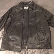 leather jacket fake nwt a collezioni