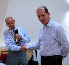 Neil Gibbs as a new member - Rotary Club of Stonehouse