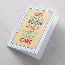 Personalised Get Well Cards From 99p Gettingpersonalcouk