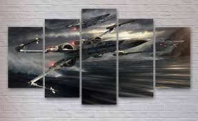 star wars x wing 5 panel canvas x wing fighter x wing wall art office decor bedroom decor home decor 119 by canvasboxshop on etsy  on star wars canvas panel wall art with star wars x wing 5 panel canvas x wing fighter x wing wall art