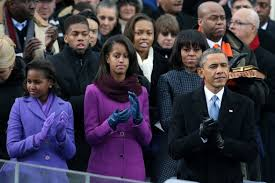 Pictured: First Family at Obama's Presidential Inauguration