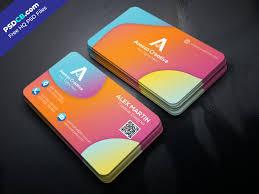 Creative Colorful Business Card Template Psd Design Psdcbcom
