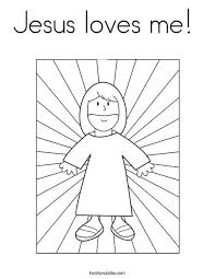 Get ready for some coloring fun with totally free printable coloring sheet. Jesus Loves Me Coloring Page Twisty Noodle Jesus Coloring Pages Bible Coloring Pages Bible Coloring