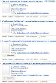 gcts theses online a list of appropriate theses will show up in the online catalog