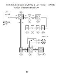 electrical diagrams circuit 10 bath fan bedroom lr entry loft receptacles circuit 11 utility room receptacles circuit 12 loft receptacles and kitchen hood