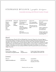 Graphic Design Student Resume Resume Corner