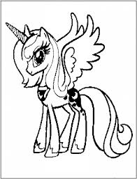 Coloriage My Little Pony Princesse Lunalll L
