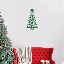 geometric tree wall art
