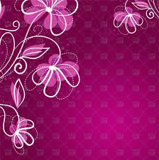Purple Background Design Simple Purple Floral Background Stock Vector Image