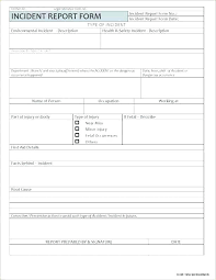 General Incident Report Template Form Incident Report Form