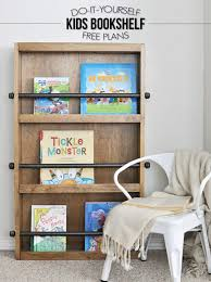 learn how to build this industrial style kids bookshelf