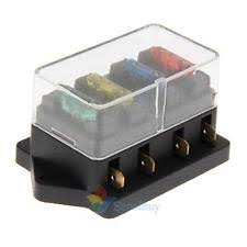 12v fuse box car van 4 way circuit standard ato blade fuse box block holder 12v 24v