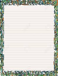 Lined Stationery Paper Lined Lettersized Paper Stationery With Neonlike Borders Royalty 9