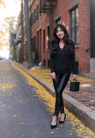 faux leather pants styled 2 ways