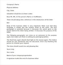 Proper Business Letter Template