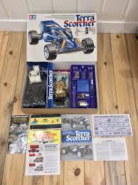 nos nib 1988 vine tamiya terra scorcher 4wd rc car buggy 1 10 58075 ebay
