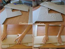 picture of how to make a frame to the mirror