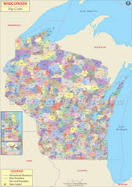 wisconsin zip code map wisconsin postal code