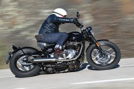 ross on the triumph bobber the bike shed