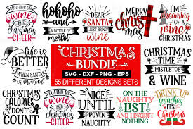 777 christmas free vectors on ai, svg, eps or cdr. 55 Christmas Svg Bundle Graphic By Designdealy Com Creative Fabrica Di 2020