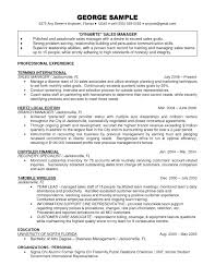 Resume Sales Manager Resume Objective