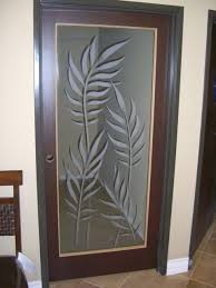 interior glass doors with obscure frosted glass designs ferns 2d tropical