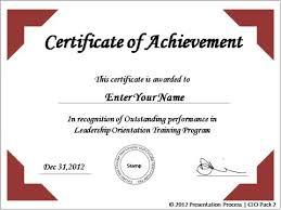 Printable Achievement Certificates Create Printable Certificates In Powerpoint In A Jiffy