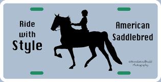 horse saddlebred silhouette license plate
