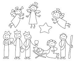Ideas Coloring Book Nativity Scene Or Nativity Scene Coloring Pages