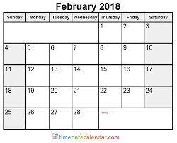 february calendar 2018 philippines free printable template