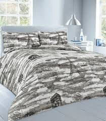 paris duvet cover set grey king