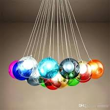 colored glass chandelier colorful glass ball led chandelier lamp 3 of glass spheres modern light color