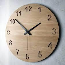 large oak clock 195 50cm wooden wall